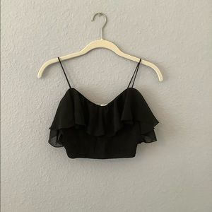 Kimchi Blue Ruffle Crop Top M Urban Outfitters
